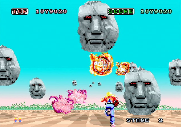 video games 1985 space harrier