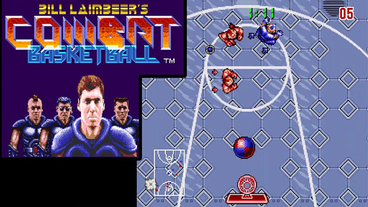 bill laimbeer combat basketball video game 1991